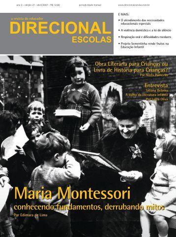 Maria Montessori conhecendo fundamentos, derrubando mitos - OMB