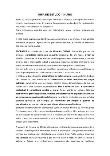 GUIA DE ESTUDO – 3º ANO - Colégio Alexander Fleming