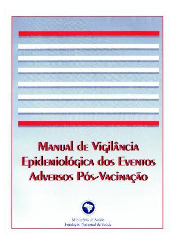 Manual de Vigilância Epidemiológica dos Eventos Adversos Pós ...