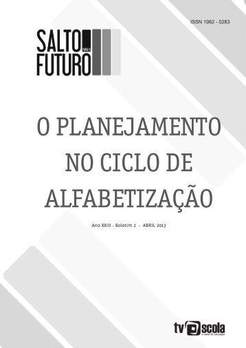 O PLANEJAMENTO NO CICLO DE ALFABETIZAÇÃO - TV Brasil