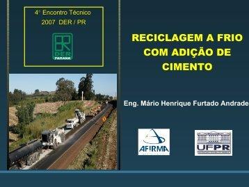 Reciclagem a frio Mario Henrique pdf - DER