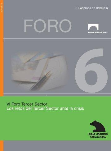 Los retos del Tercer Sector ante la crisis - Fundación Luis Vives