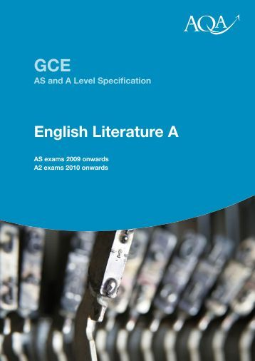 aqa literature mark scheme coursework