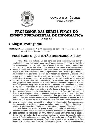professor das séries finais do ensino fundamental de ... - Fundep