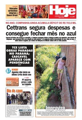 Cettrans segura despesas e consegue fechar mês no ... - Jornal Hoje