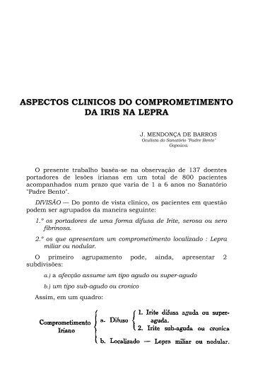 ASPECTOS CLINICOS DO COMPROMETIMENTO DA IRIS NA LEPRA