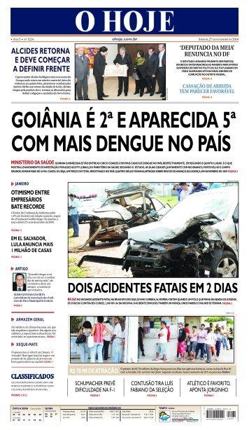 goiânia é 2ª e aparecida 5ª com mais dengue no país - Jornal O Hoje