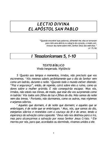 LECTIO DIVINA EL APÓSTOL SAN PABLO I ... - Lectionautas