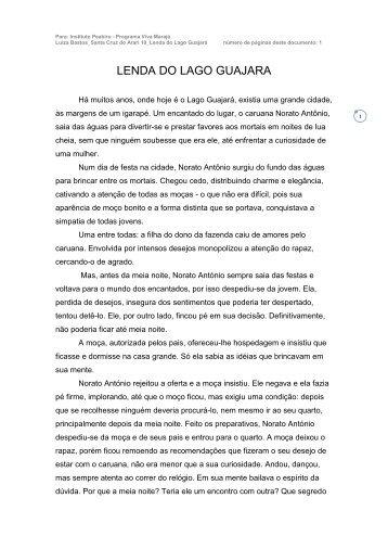 LENDA DO LAGO GUAJARA - Viva Marajó