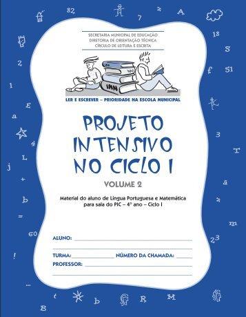 projeto intensivo no ciclo i - Secretaria Municipal de Educação
