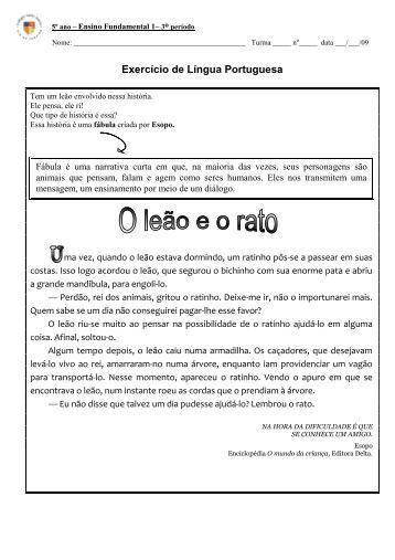Português - Gabarito 1 - Colégio Santo Inácio