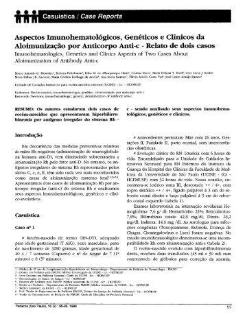 Aspectos Imunohematológicos, Genéticos e Clínicos da ...