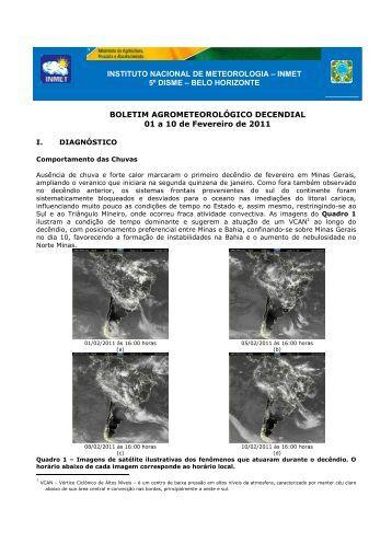 INSTITUTO NACIONAL DE METEOROLOGIA – INMET 5º DISME ...