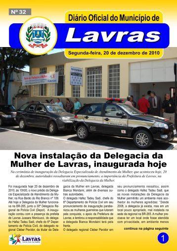 Edição nº 032 – 20/12/2010 - Prefeitura Municipal de Lavras