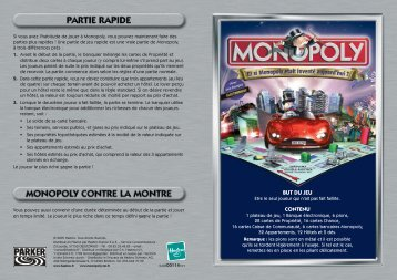 r gle du monopoly cars 2. Black Bedroom Furniture Sets. Home Design Ideas