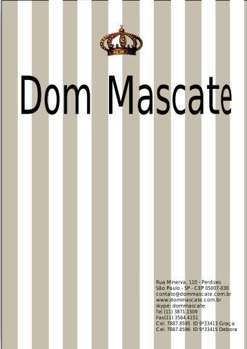 catálogo SITE 2010.cdr - Dom Mascate