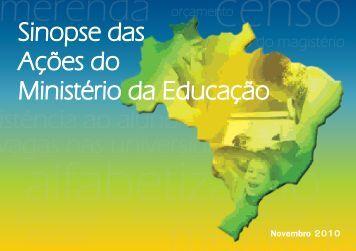 merenda - Balanço da gestão da Educação 2003-2010 - Ministério ...