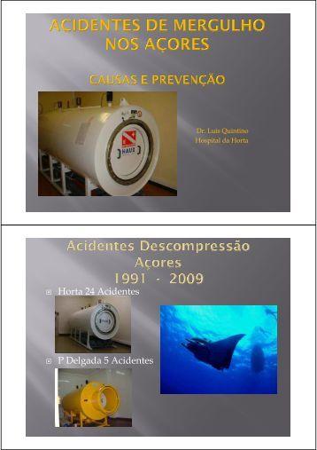 Acidentes de mergulho nos Açores: causas e medidas de prevenção