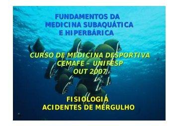 FISIOLOGIA ACIDENTES DE MERGULHO ... - cemafe