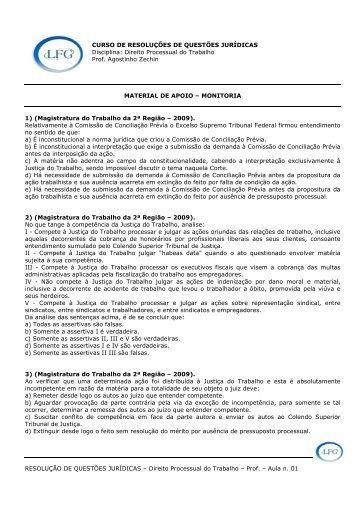RESOLUÇÃO DE QUESTÕES JURÍDICAS – Direito ... - LFG