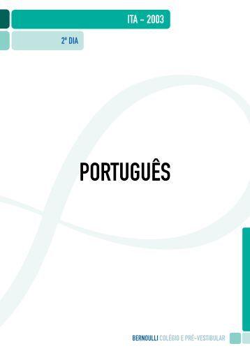 PORTUGUÊS - Colégio e Pré-Vestibular Bernoulli