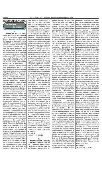 Boletin Oficial N 26049 del 14/12/1999 - Gobierno de Mendoza