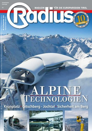 Radius Alpine Technologien 2011