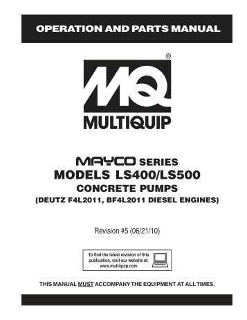 Mayco LS400 and LS500 Mid-range concrete