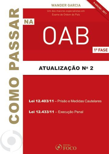 OAB 7ED_2 ATUALIZACAO.indd - Editora Foco