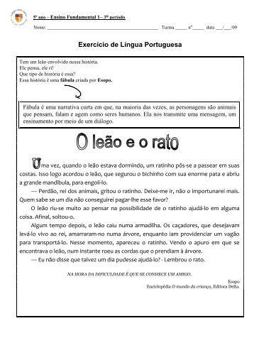 Português - Colégio Santo Inácio