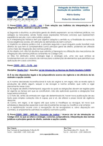 Delegado da Polícia Federal: resolução de questões - online Mário ...