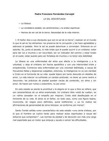 Padre Francisco Fernández Carvajal LA SAL ... - Homiletica.org