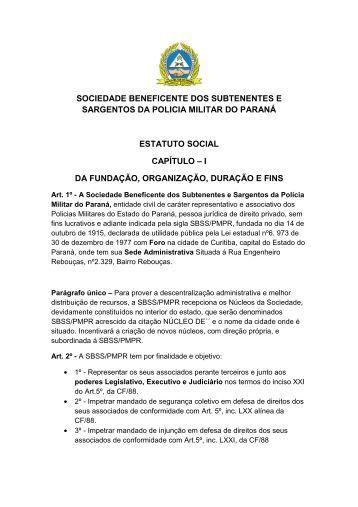 Estatuto - Associação de Subtenentes e Sargentos da PMPR