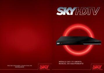 módulo sky tv aberta manual do equipamento - Sky Nordeste