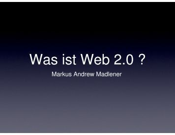 Was ist Web 2.0 ?