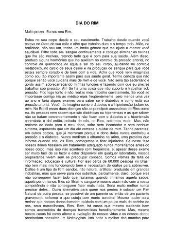 Cronica Dia do Rim 2008 - Inteligente Site