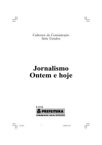 Jornalismo Ontem e hoje - Portal da Prefeitura da Cidade do Rio de ...