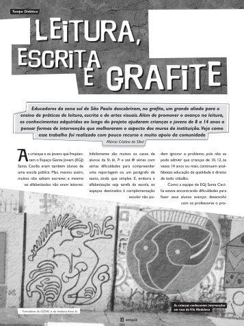 Leitura, escrita e grafite. - Além das Letras