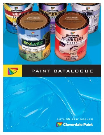 Table of contents - Cloverdale Paint