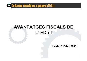 Deduccions fiscals per projectes R+D+i