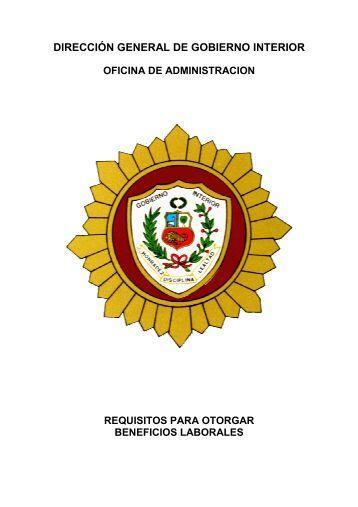 Requisitos para otorgar beneficios Laborales - direccion general de ...