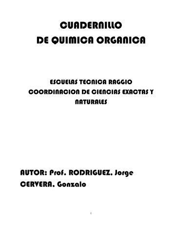 CUADERNILLO DE QUIMICA ORGANICA - Escuela Tecnica RAGGIO