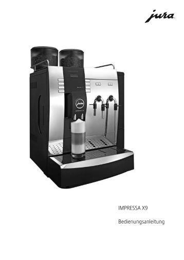 bedienungsanleitung jura impressa xf50 gastronomie. Black Bedroom Furniture Sets. Home Design Ideas