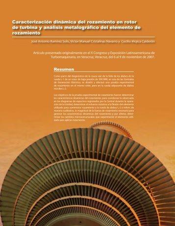Caracterización dinámica del rozamiento en rotor de turbina y ...