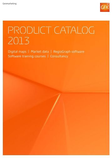 Product catalog 2013 - GfK GeoMarketing