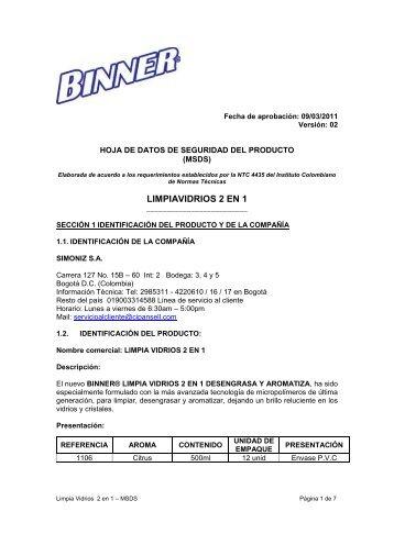 Limpia Vidrios 2 en 1 - Binner