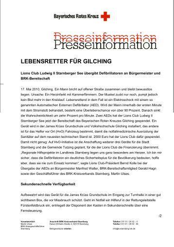 LEBENSRETTER FÜR GILCHING - Gemeinde Gilching