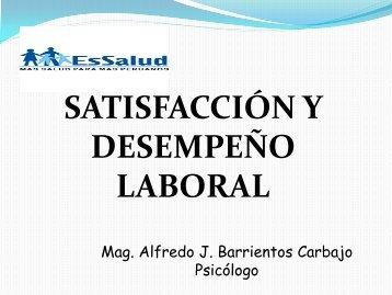 satisfacción y desempeño laboral