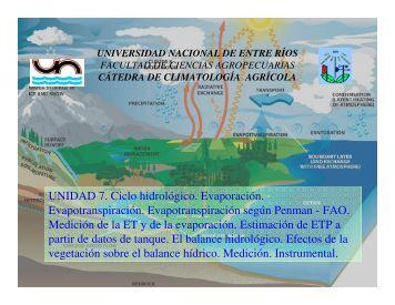 7. Ciclo hidrologico.pdf - Climatologiafca Agrícola
