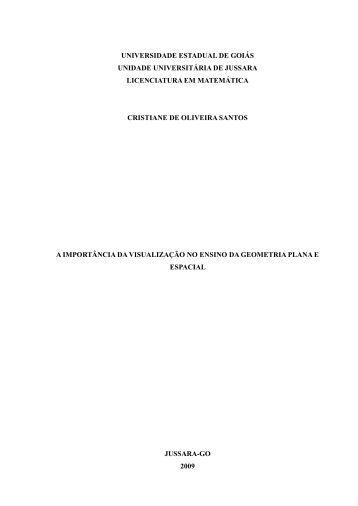 Capítulo 1 A geometria como ciência das formas e do ... - UEG.